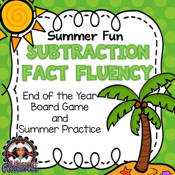 End of the Year Subtraction Fluency Game, Timed Tests, and