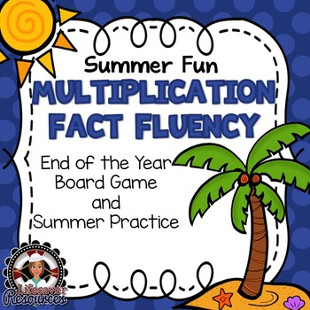 End of the Year Multiplication Fluency Game, Timed Tests,