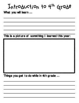 End of the Year Activity - 4th Grade