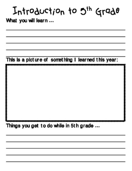 End of the Year Activity - 5th Grade