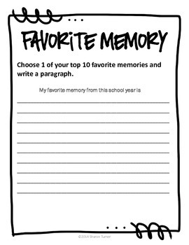 End of the Year Activity Book: My 3rd Grade Memory Book