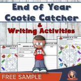 End of the Year Activities Cootie Catcher Great for Last Day of School