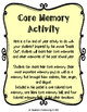 End of the Year Activity-Core Memory Activity
