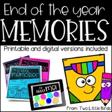 End of Year Activities: End of the Year Memory Book, Last