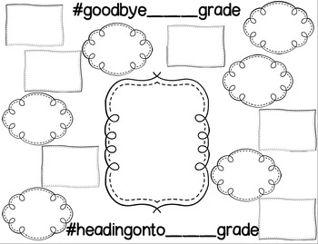 "End of the Year Activity - ""Hashtag Heading-On to ____ Grade"""