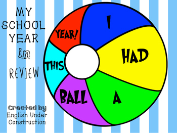 End of the Year Activity - I Had a Ball This Year!