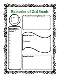 End of the Year Activity: Memories of 2nd Grade