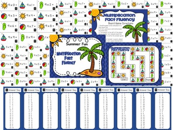 End of the Year Multiplication Division Game and Summer Practice