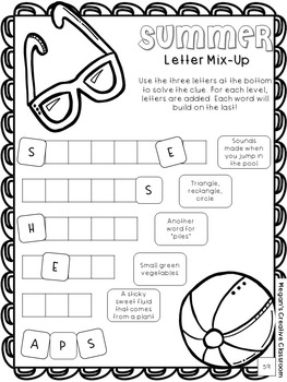 End of the Year Activity Packet and Summer Fun