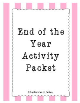 End of the Year Activity Packet