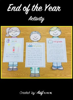 End of the Year Activity/Project Pre-K - 3rd grade - What I learned this year