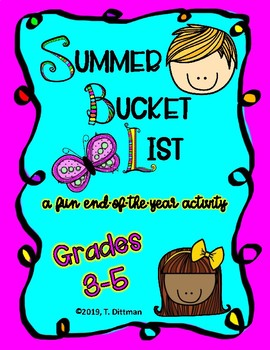 End-of-the-Year Activity: Summer Bucket List for grades 3-5