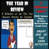 End of the Year Activity - The Year in Review - Research B