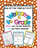 "End of the Year Activity: ""Welcome to 4th Grade"" For Your"