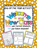 "End of the Year Activity: ""Welcome to Your New Class"" For"