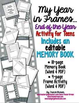 End of the Year Writing Activities and Memory Book