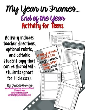 End of the Year Writing Activities and Memory Book EDITABLE Distance Learning