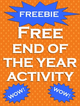 End of the Year Activities free