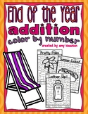 End of the Year Addition Color by Number