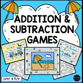 Math Review/End of the Year Summer Addition & Subtraction Games