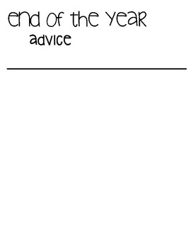 End of the Year Advice