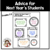 End of the Year Advice for Next Year's Students