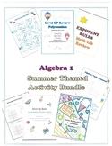 Back to School Algebra 1 Review for Algebra 2 Activity Bundle