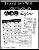 End of the Year Alphabet Countdown Calendar