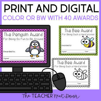 End of the Year Animal Editable Awards | Student Awards | Editable Awards
