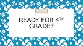 End of the Year--Are We Ready for 4th Grade Math?