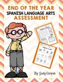 End of the Year Assessment in Spanish for First Graders