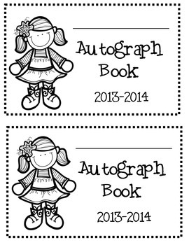 End of the Year Autograph Book  dates:  2014-2015, 2015-2016, 2016-2017