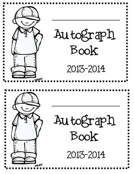 End of the Year Autograph Book 2  dates:  2014-2015, 2015-2016, 2016-2017