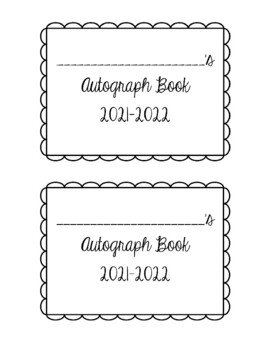 photo regarding Free Printable Autograph Pages titled Autograph Reserve Worksheets Coaching Products TpT