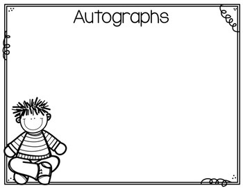 End of the Year Autograph Book {FREE}