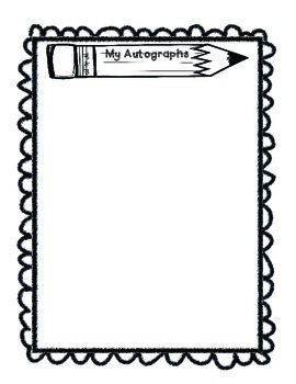 Impertinent image regarding printable autograph book for students