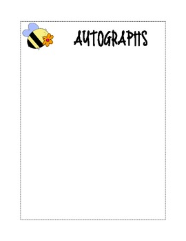 photo about Free Printable Autograph Pages referred to as Autograph Website page Worksheets Education Elements TpT