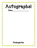 End of the Year Autographs Page Kinder - 6th