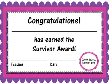 End of the Year Award Certificates - Scalloped Edition