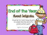 End of the Year Award Certificates - 35 EDITABLE Certificates {Color & B/W}