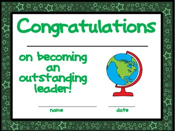 End of the Year Award Certificates {Color and Black Line}