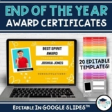 End of the Year Award Certificates - Editable Templates fo