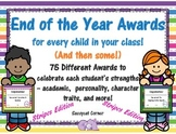 End of the Year Award Certificates - Stripes Edition