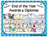 End of the Year Award Certificates and Diplomas