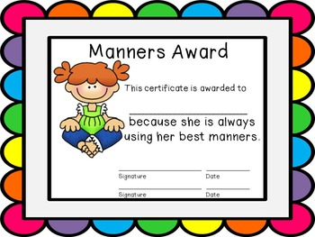 Editable End of the Year Award Certificates- rainbow bubble border