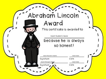 Editable End of the Year Award Certificates- yellow puffy border