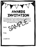 End of the Year Award Invitation