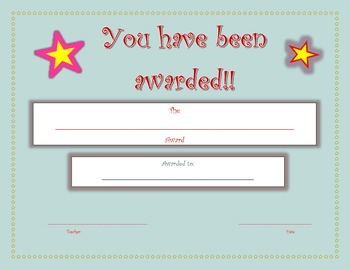 End of the Year Award Template