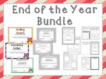 End of the Year Award and Memory Book Mini Bundle