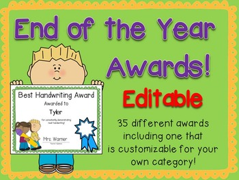 End of the Year Awards {Editable!}